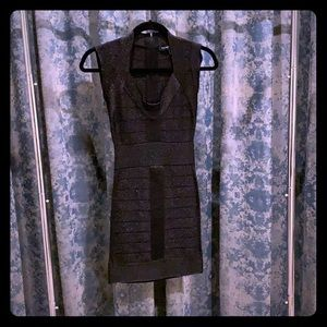 French Connection black shimmer mini dress